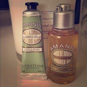 Loccitane Almond Shower Oil & Almond Hand Cream